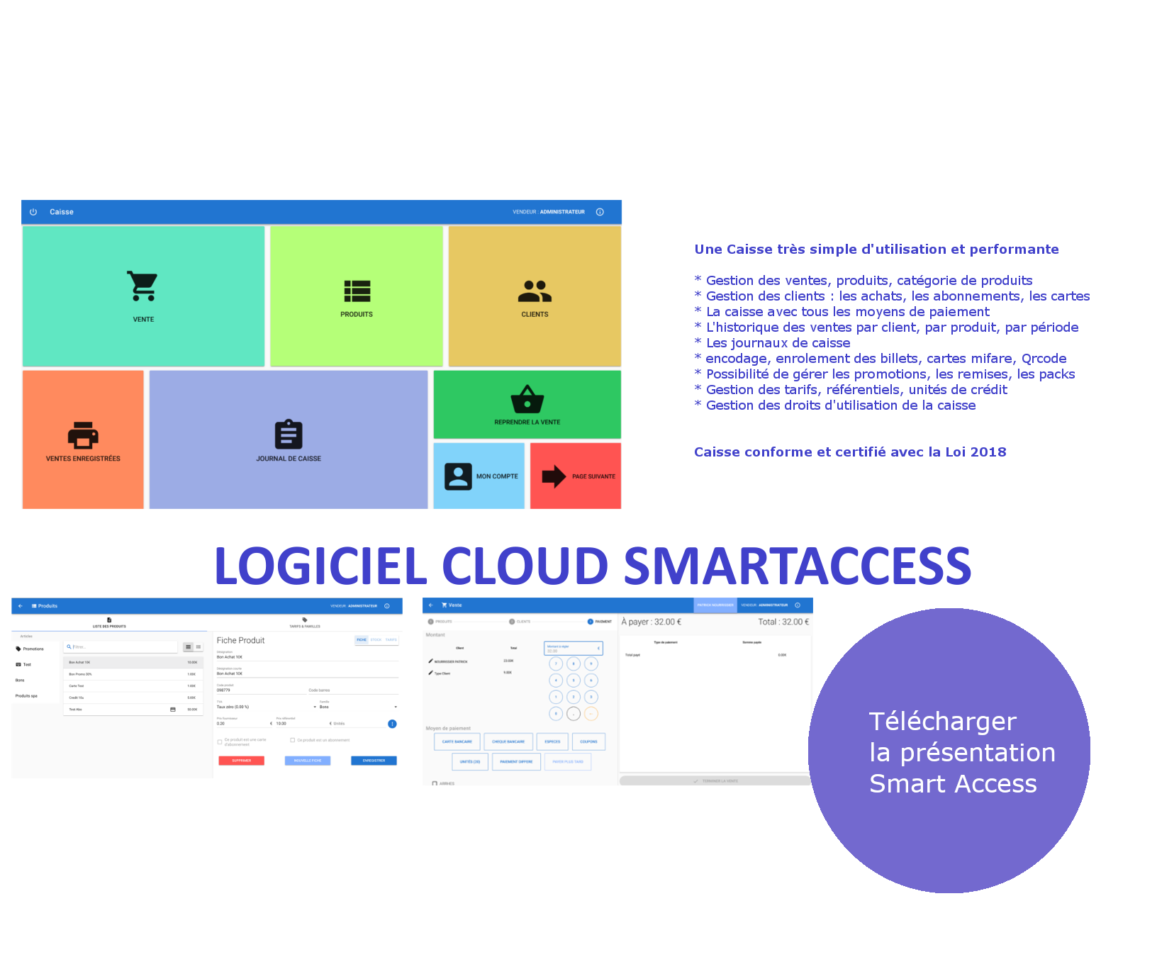 Solution SmartAccess mixte Cloud et réseau local